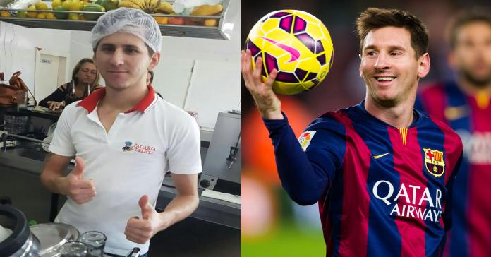 Chàng trai làm bánh ở Brazil nổi tiếng vì giống Messi đến mức không thể tin nổi