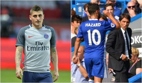 Điểm tin chiều 29/04: Verratti đã ở rất gần Barca; Conte bất lực nhìn Hazard sang Real