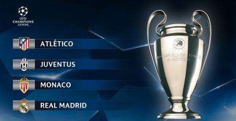 ĐIỂM MẶT 4 đội bóng vào bán kết Champions League