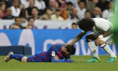Marcelo chính thức lên tiếng về pha va chạm làm Messi đổ máu ở Siêu kinh điển