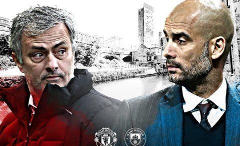 Đội hình derby Manchester: Aguero đá cặp với Rashford