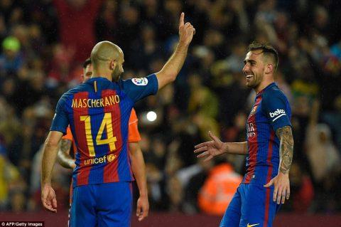 Sau tất cả, Mascherano có bàn thắng đầu tiên cho Barca