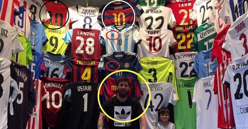 5 sự thật ẩn khuất sau bộ sưu tập áo đấu của Messi: Ronaldo và Higuain ở đâu?