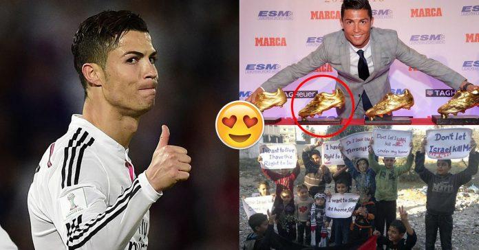 """""""Chiếc giày Vàng giả"""" và câu chuyện xúc động về Cristiano Ronaldo"""