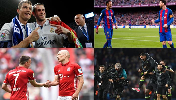 10 đôi cánh hay nhất 5 giải bóng đá hàng đầu châu Âu