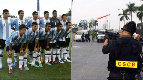 Quá choáng với biện pháp bảo vệ quy mô chưa từng có khi tiếp đón U20 Argentina
