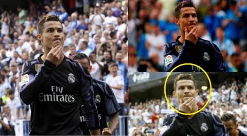 Giải mã ý nghĩa pha ăn mừng đầy kiêu hãnh của Ronaldo đêm qua khiến Fan phấn khích