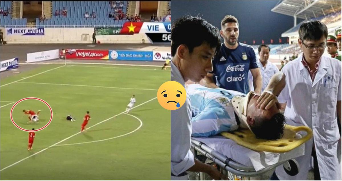Cận cảnh chấn thương khiến sao mai đắt giá của U20 Argentina phải nhập viện, lỡ hẹn U20  World Cup