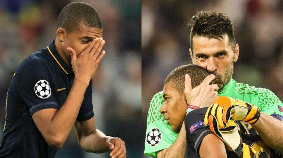 """Chùm ảnh thần đồng Mbappe bật khóc, """"đàn anh"""" Buffon tới an ủi khiến cả thế giới xúc động"""