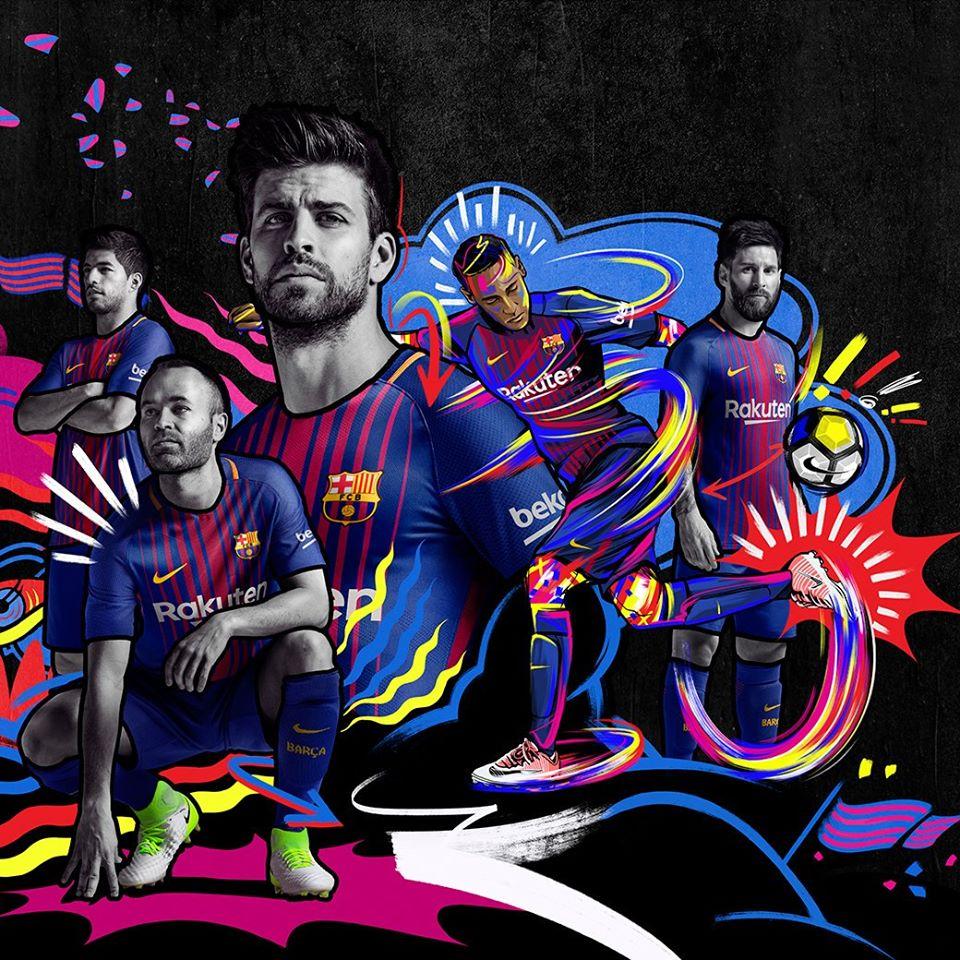 NÓNG: Barcelona ra mắt áo đấu chất lừ mùa giải 2017/2018