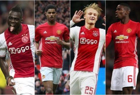 Đội hình kết hợp trận Ajax vs MU: Pogba, Herrera thống lĩnh tuyến giữa