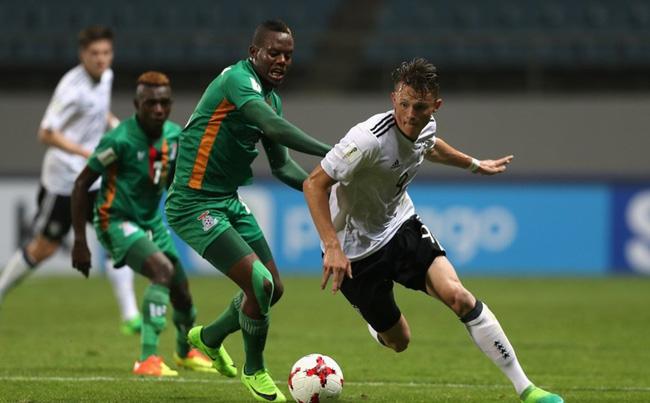 U20 Zambia vào tứ kết sau màn rượt đuổi tỉ số nghẹt thở trước Đức