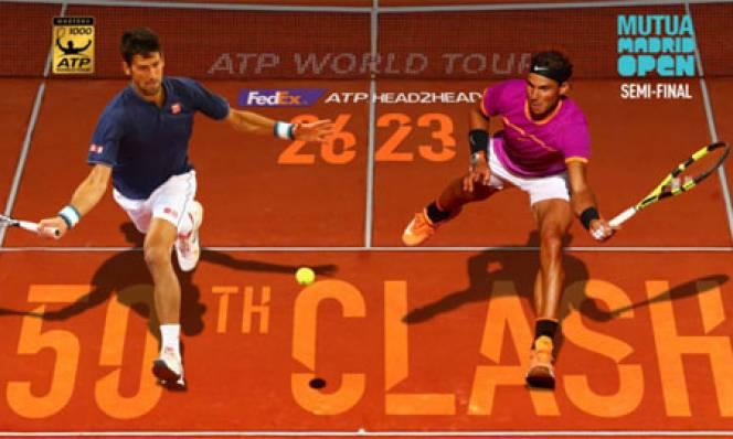 Djokovic chạm trán Nadal tại bán kết Madrid Masters