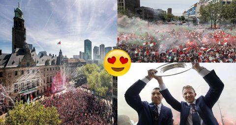 Hơn 130.000 CĐV Feyenoord ăn mừng vô địch Hà Lan với Dirk Kuyt