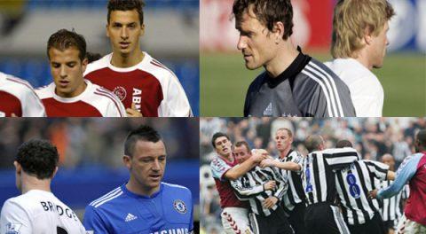10 cặp đồng đội ghét nhau hơn kẻ thù trong làng bóng đá