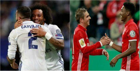 10 cặp hậu vệ cánh xuất sắc nhất châu Âu hiện nay: Carvajal-Marcelo chưa phải hay nhất!