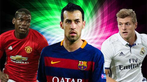 10 tiền vệ trung tâm hay nhất thế giới hiện nay: Tinh túy nằm ở La Liga!
