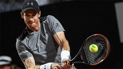 ĐKVĐ Murray bị loại ngay trận đầu ra quân Rome Masters