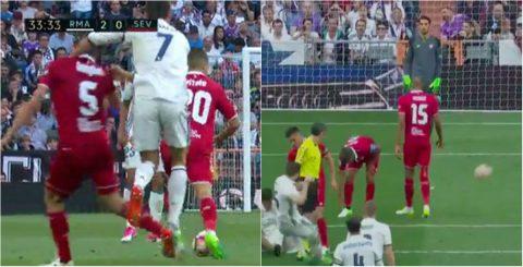 """Ronaldo đánh người, trọng tài """"bảo kê"""" Real vô địch La Liga sau 5 năm chờ đợi?"""