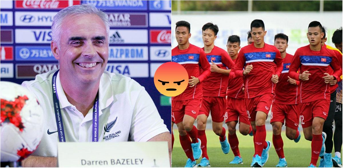 Người New Zealand gây phẫn nộ khi viết sai tên 2 trụ cột U20 VN, gọi thầy trò HLV Hoàng Anh Tuấn là đội yếu nhất từng gặp