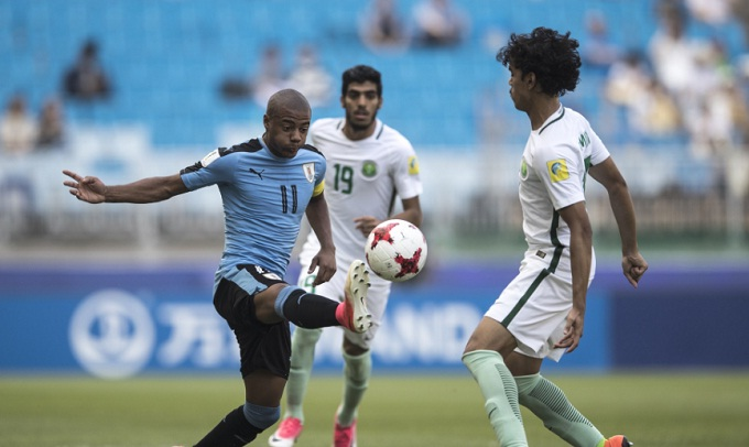 Ghi bàn từ chấm 11m, U20 Uruguay tiễn đại diện cuối cùng của châu Á rời giải