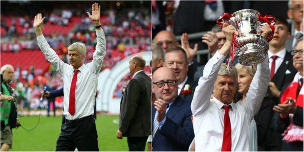 CHÙM ẢNH: 'Cha già' Wenger lặng lẽ ăn mừng chức vô địch FA Cup khiến cả thế giới rưng rưng nước mắt