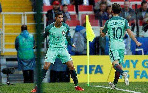Ronaldo rực sáng, Bồ Đào Nha có chiến thắng đầu tiên tại Confed Cup