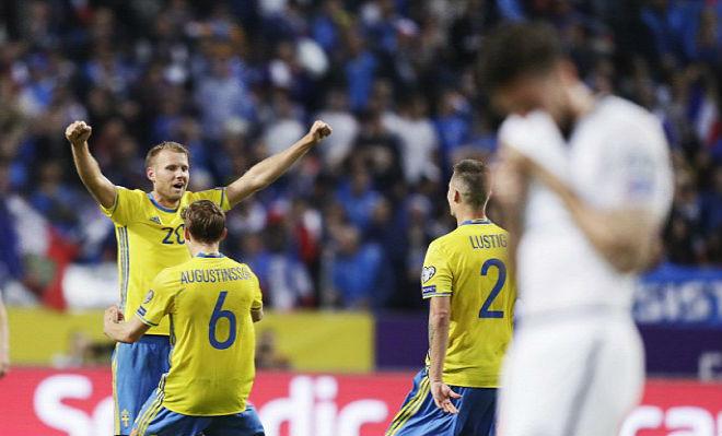 Thua Sốc trước Thụy Điển, Pháp mất luôn ngôi đầu bảng A