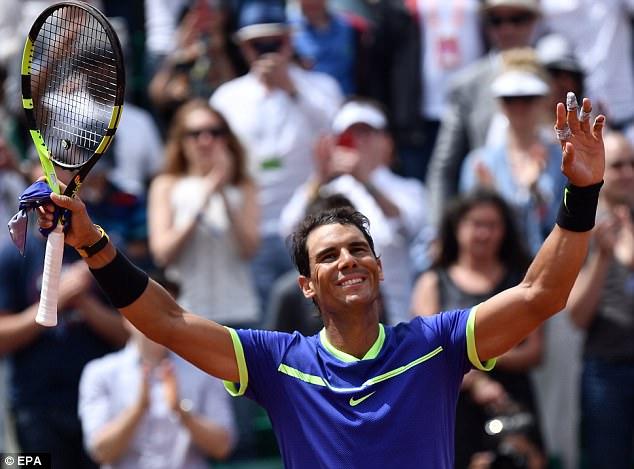 Nadal mừng sinh nhật bằng tấm vé vào Tứ kết Roland Garros