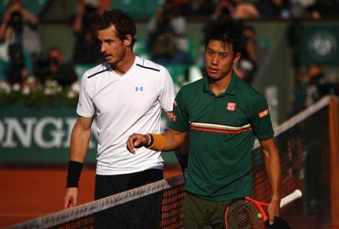 Đả bại Nishikori, Murray tiếp tục con đường chinh phục Roland Garros