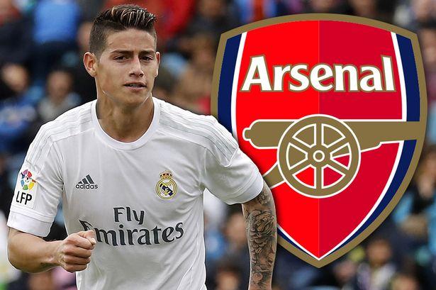 """Chi lớn, Arsenal giành """"pole"""" vụ James Rodriguez"""