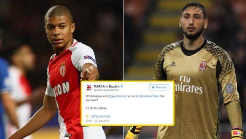 CỰC NÓNG: Real đạt thỏa thuận chiêu mộ hai tài năng trẻ Mbappe và Donnarumma