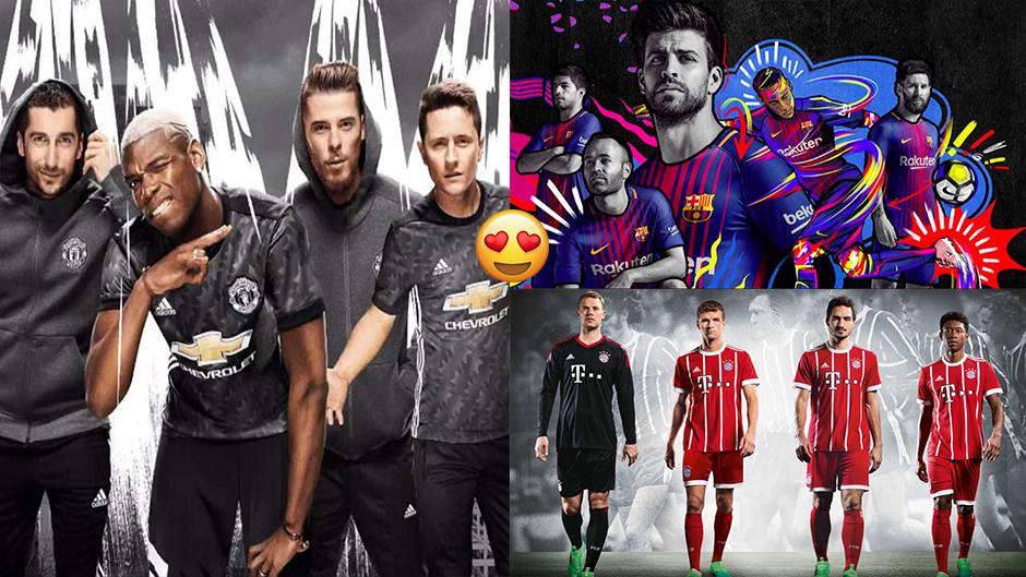 """Những mẫu áo đấu """"cực chất"""" khắp châu Âu mùa giải tới"""