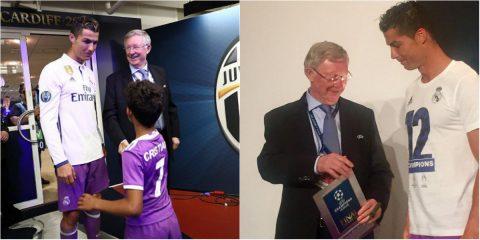Không chỉ ghé thăm, Sir Alex còn gặp Ronaldo lần 2 để trao tận tay vật này!
