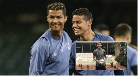 """James Rodriguez khoe kiểu đầu mới, Ronaldo lập tức comment """"phũ"""" khiến fan phì cười"""