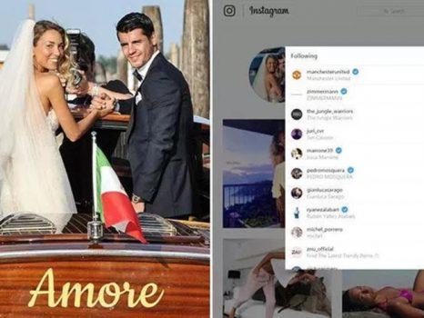 Tân nương của Morata vô tình để lộ điểm đến tiếp theo của chồng