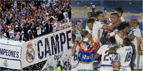 Ronaldo khoe kiểu tóc cực chất trong lễ ăn mừng hoàng tráng của Real tại Madrid