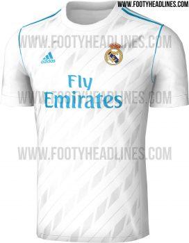 Rò rỉ mẫu áo đấu của Real Madrid mùa 2017/2018