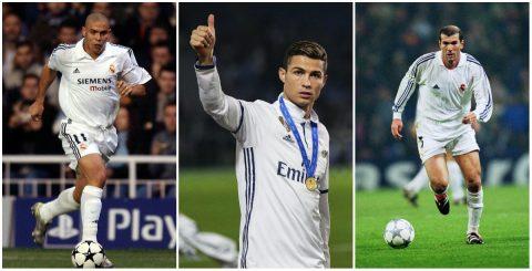 Ronaldo và 10 huyền thoại vĩ đại nhất Dải ngân hà Real Madrid