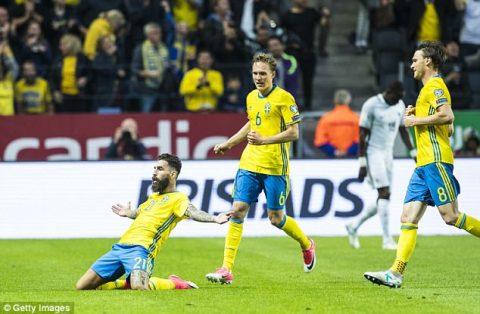VIDEO: Thụy Điển 2-1 Pháp (Bảng A VL World Cup khu vực châu Âu)