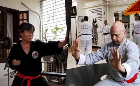 Cao thủ Vịnh Xuân Pierre Francois chóng vánh hạ gục võ sư Đoàn Bảo Châu