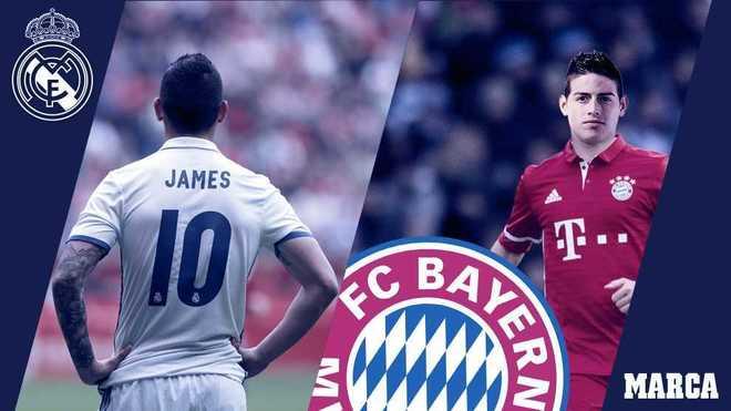 James mới chỉ là bản hợp đồng thứ 7 giữa Real và Bayern