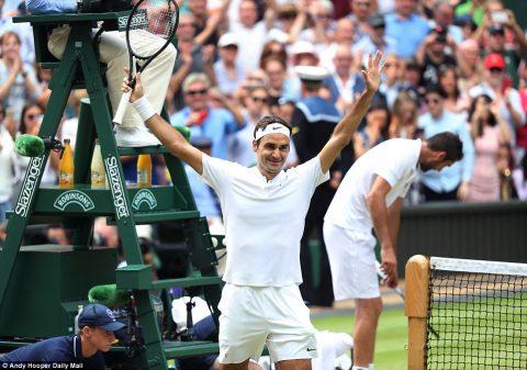 Dễ dàng hạ gục Cilic, Roger Federer lập kỷ lục 8 lần vô địch Wimbledon