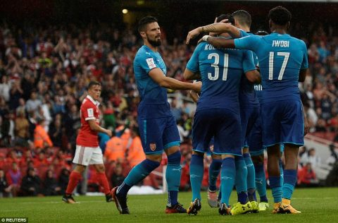 VIDEO: Arsenal 5-2 Benfica (Emirates Cup 2017)