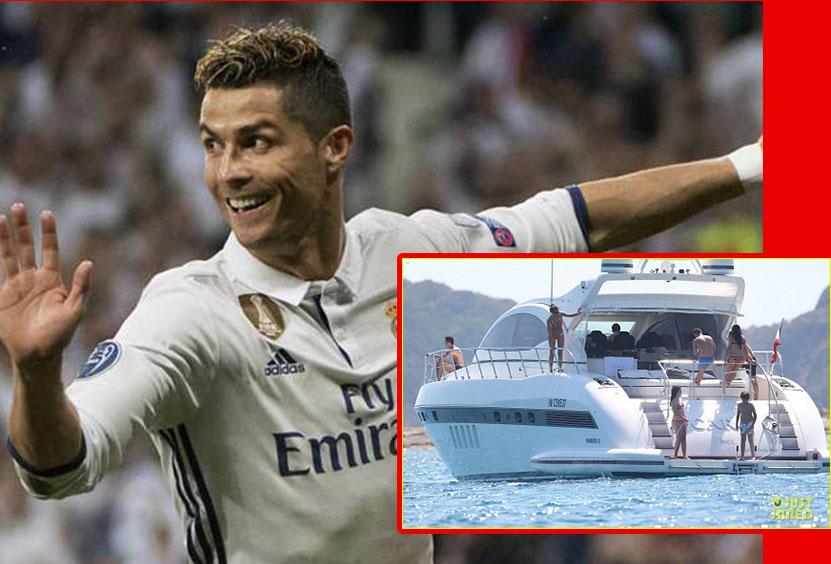 Du thuyền của Ronaldo bất ngờ bị cảnh sát biển khám xét