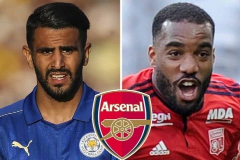 Sau Lacazette, Arsenal tiếp tục tiến sát Mahrez