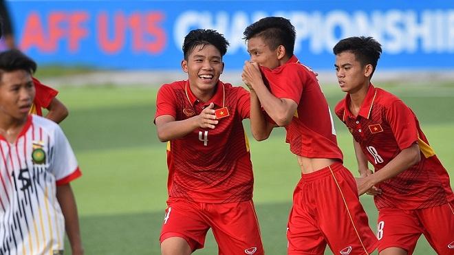 U15 Việt Nam sớm cầm vé vào bán kết U15 Đông Nam Á 2017