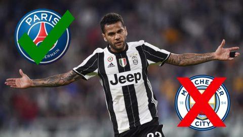 """Đây chính là nguyên nhân khiến Alves """"lật kèo"""" Man City để đến PSG!"""