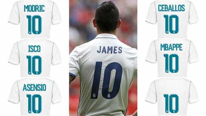 """Sau James, Ai sẽ là người """"kế thừa"""" chiếc áo số 10 tại Real?"""