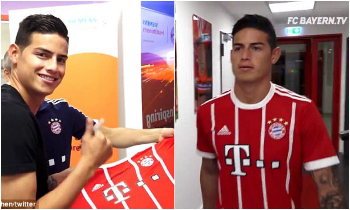 """CHÙM ẢNH: James rạng rỡ cập bến """"thiên đường"""" Bayern Munich"""
